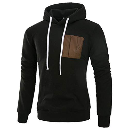 Men's Hoodies, FORUU Long Sleeve Patchwork Hooded Sweatshirt Tops Jacket Coat Outwear ()