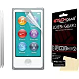 [Pack of 2] TECHGEAR® Apple iPod Nano 8 (8th Generation) & iPod Nano 7 (7th Generation) CLEAR Screen Protector Covers with Cleaning Cloth [Nano 7 & Nano 8]
