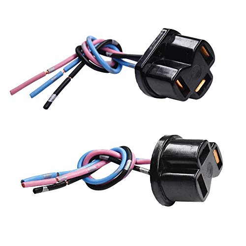 HUIQIAODS H4 9003 HB2 Wiring Harness Socket Pigtail Connector For Car Truck Boat Marine Headlight Fog Light Retrofit (Pack of 2)