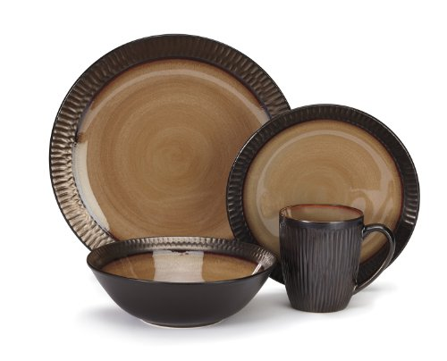 Cuisinart CDST1-S4G3 Stoneware Alba Collection 16-Piece Dinnerware Sets