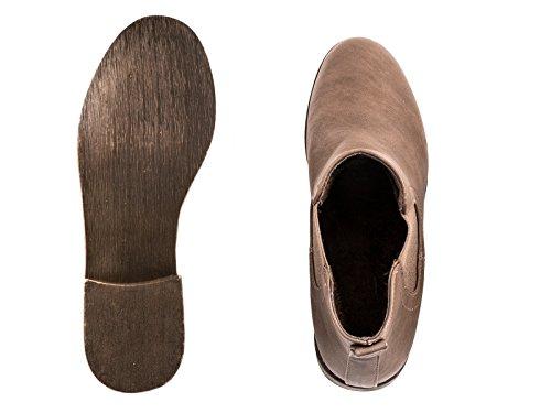 Elara - Botas plisadas Mujer Braun -