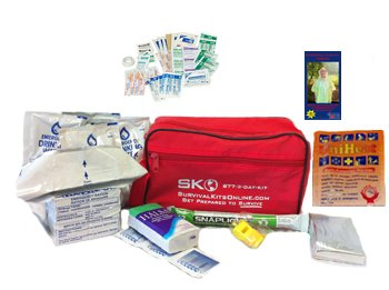 Small Perfect Survival Kit, Earthquake Kit, Commuter Kit for Auto, Home or School from (Mayday Food)