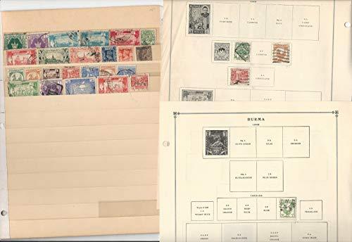 Burma, Burundi Caicos Stamp Collection 50 Scott International Pages to 1984