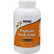 NOW Supplements, Psyllium Husk 500 mg, 500 Capsules