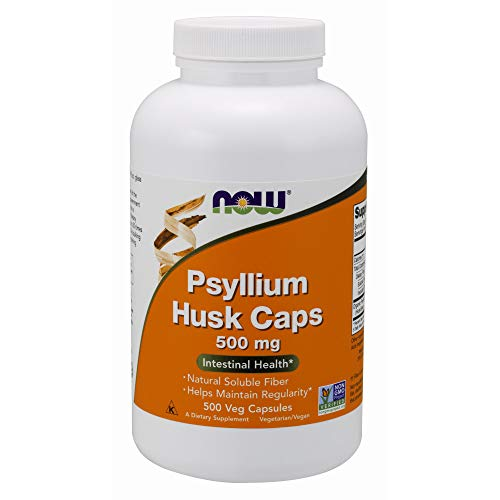 NOW Supplements, Psyllium Husk 500 mg, 500 Capsules (Every Man 180 Tabs)