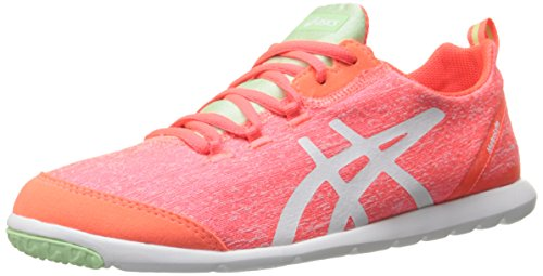 ASICS Women's Metrolyte Walking Shoe, Flash Coral/White/Mint, 5.5 M US