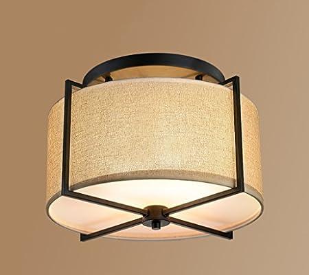 JCRNJSB® Luz de techo de tela, American Village Lámparas de ...