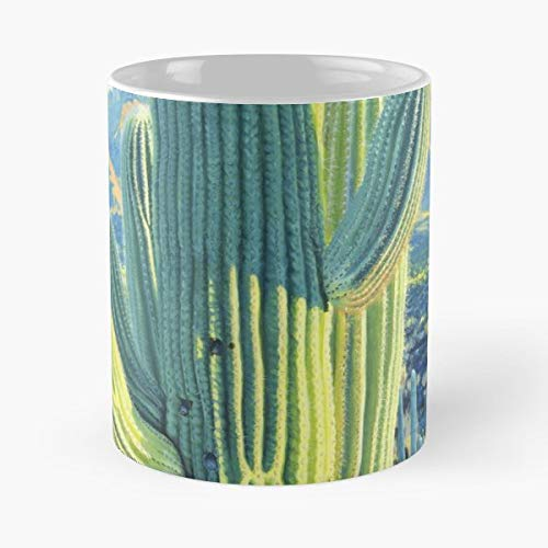 Cactus Saguaro Southwest Sonora - 11 Oz Coffee Mugs Ceramic The Best Gift For Holidays, Item Use Daily