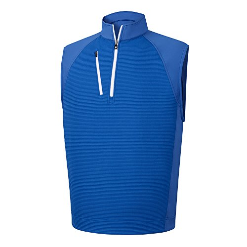 (FootJoy Ribbed Jacquard Half-Zip Vest)