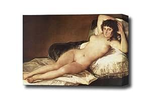 Naked Maja Francisco de Goya lienzo decorativo, listo para colgar 14 x 9