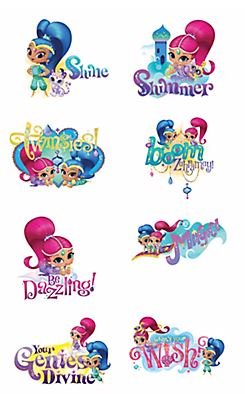Shimmer and Shine Tattoos Set of 8 Tattoos (Tattoo Shimmer)