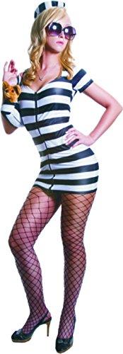 Sexy Princess in Prison Costume Set - White Stripes - Super Low Closeout Price (Princess In Prison Costume)