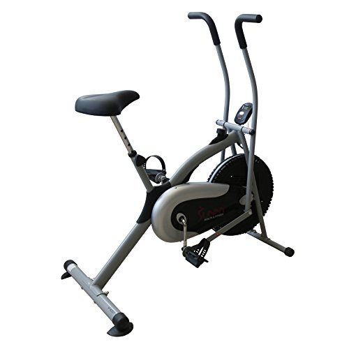 Sunny Health & Fitness SF B2621 Cross Training Fan Upright Exercise Bike w/ Arm Exercisers