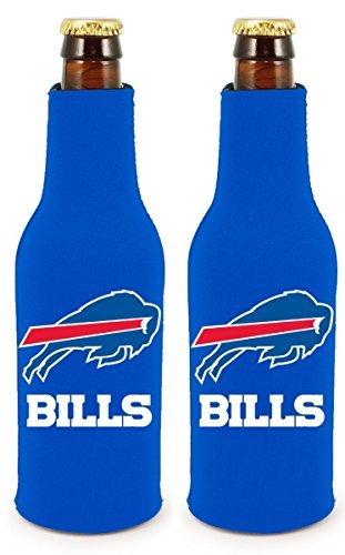 NFL Football 2014 Team Color Logo Bottle Suit Holder Cooler 2-Pack (Buffalo -