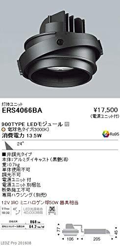 ENDO LEDムービングジャイロ灯体ユニット 12VIRCミニハロゲン球50W相当 電球色3000K Ra95 広角 黒 ERS4066BA (ランプ付)   B07HQ37Z4M