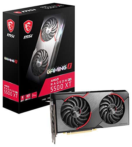 MSI Gaming Radeon RX 5500 XT Boost Clock: 1845 MHz 128-bit 8GB GDDR6 DP/HDMI Dual Torx 3.0 Fans Crossfire Freesync VR Ready Graphics Card (RX 5500 XT Gaming X 8G)
