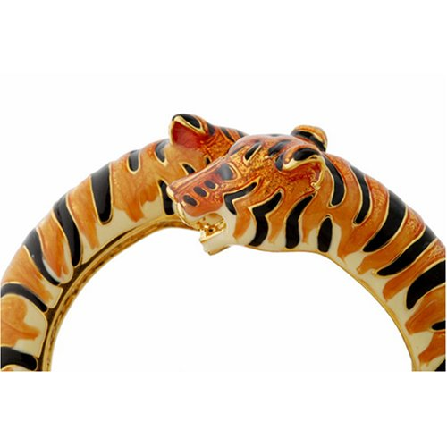 Kenneth Jay Lane Siberian Tiger Bypass Bracelet by Kenneth Jay Lane