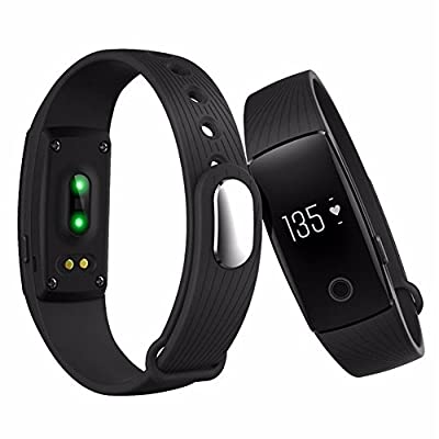 Smart Bracelet, ARCHEER Sleep and Heart Rate Monitor Bluetooth 4.0 Waterproof Health Wristband Smart Watches Fitness Tracker for Men and Women Compatible with Android and IOS iphone (Black)