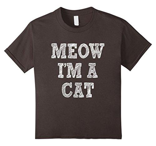 [Kids I'm a Cat Halloween Costume Shirt Easy for Women Men Kids 10 Asphalt] (Easy Cat Costume Ideas)