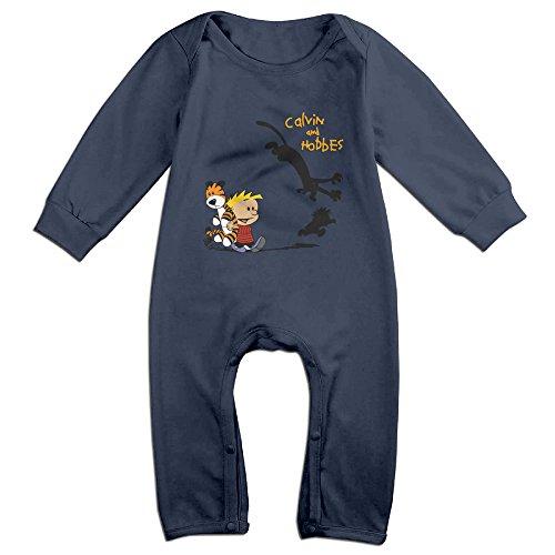 - IMMAZM Baby Bodysuit Thomas Hobbes Tiger Calvin And Hobbes Long-Sleeve Romper T-Shirt Navy 6 M