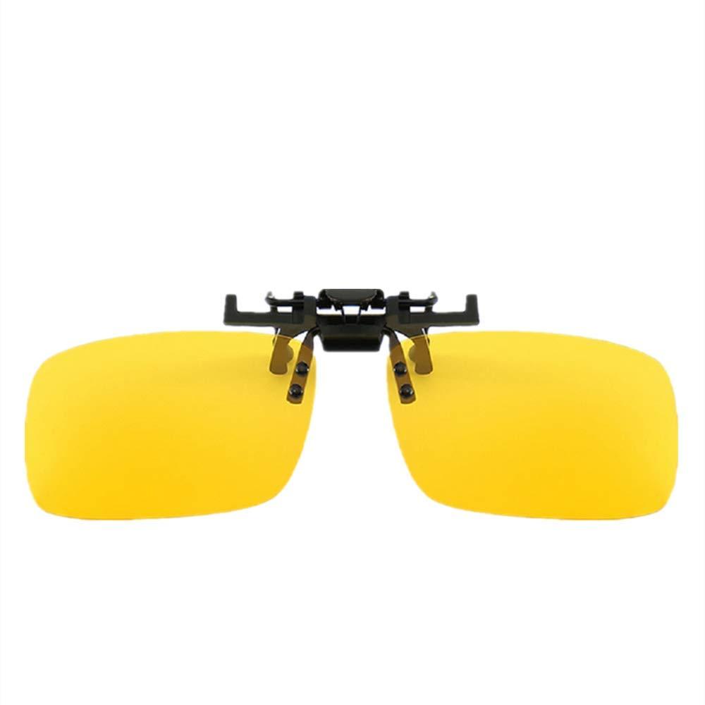 Schwarz+Gelb+Braun+Gr/ün Yibaision Sonnenbrille Aufsatz 2-St/ück Clip on Polarisiert Clip polarisierte Sonnenbrille Flip up Sonnenbrille Clip Gegen Licht f/ür Frauen und M/änner