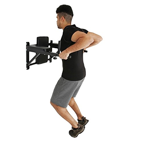Unisex Adulto Talla /Única Negro Fitness House FH Barra para Fondos y Dips