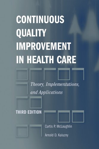 Continuous Quality Improvement In Health Care: Theory, Implementations, And Applications