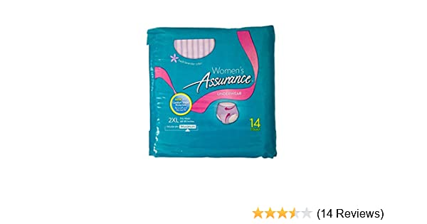 Amazon.com: Assurance Womens (Fresh Lavender Color) Underwear, 2xl, 14 Count: Health & Personal Care