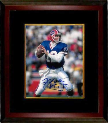 Signed Jim Kelly Picture - 8X10 12 Custom Framed throwing right)- JSA BAS f948f7e67