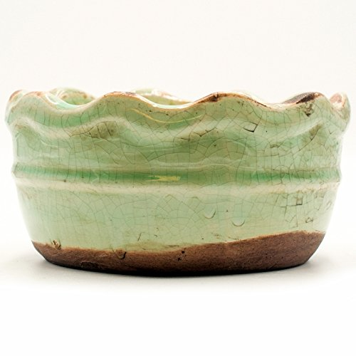 Pumpkin Caramel Drizzle Ruffled Edge Bowl Swan Creek Candle (Color: Teal)