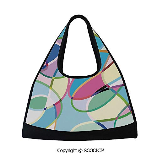 Table tennis bag,Odd Experimental Mix of Drawings Altering Active Motion States Artwork,Bag for Women and Men(18.5x6.7x20 in) ()