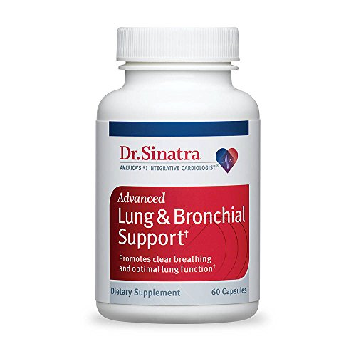 Dr. Sinatra's Advanced Lung & Bronchial Support Vitamins for Lung Health Support, Clear Breathing and Lung Function (60 Capsules, 30-Day Supply) For Sale