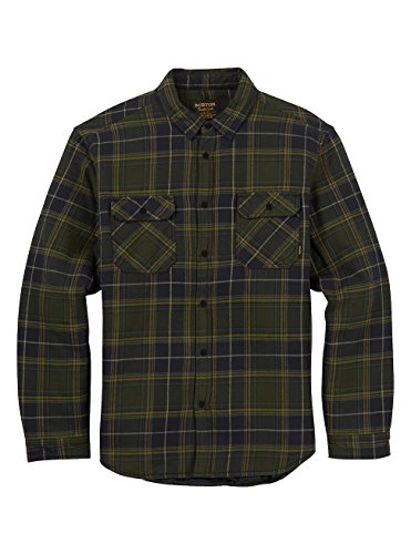 - Burton Men's Brighton Insulated Flannel Top, Forest Night Rowan, Small