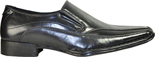 Coronado Mannen Loafer Jurk Schoen Marino-6 Fashion Puntent Met Lederen Voering Zwart