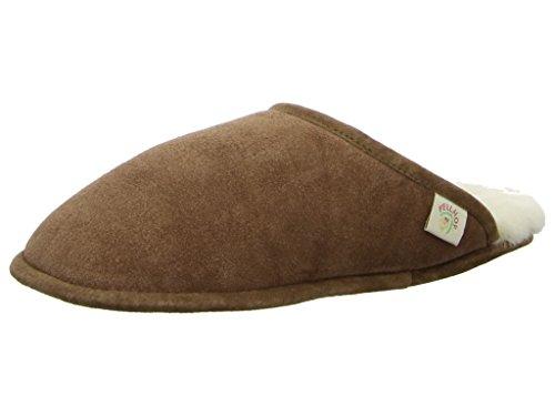 Pelle Pecora Trendy Pantofola Di Marrone 1wz6q1a5