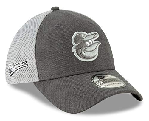 New Era Baltimore Orioles MLB 39THIRTY Heather Front Neo Flex Fit Hat