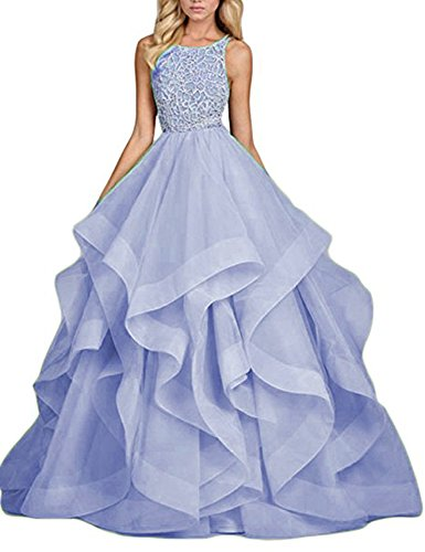 Long BD214 Dresses Lavender Gown Layers Gown Asymmetric Prom Beaded Formal Ball BessDress wvgpa0WHq