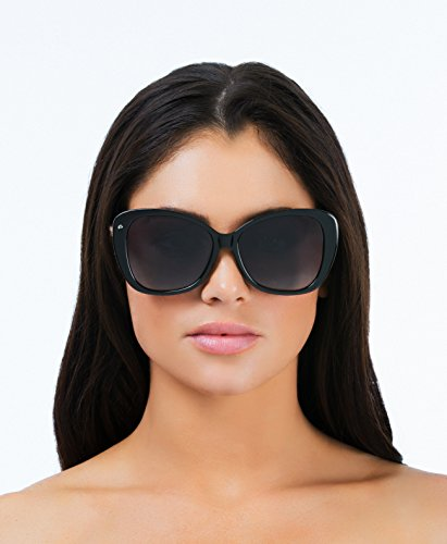 "2ca5735fbd2 Amazon.com  PRIVÉ REVAUX ICON Collection ""The Jackie O."" Designer Polarized  Cat-Eye Sunglasses  Clothing"