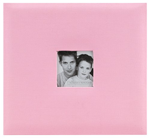 MCS MBI 13.5x12.5 Inch Fashion Fabric Scrapbook Album with 12x12 Inch Pages with Photo Opening, Pink (802515) by MCS
