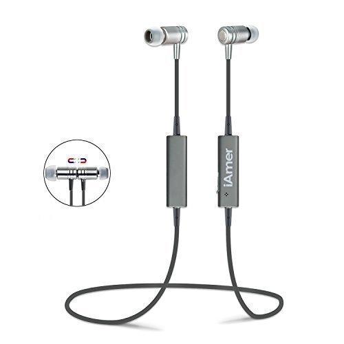 38 opinioni per Auricolare Magnetico Bluetooth, iAmer Cuffia Senza Fili Stereo A Prova Di Sudore