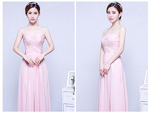 Long Pink Women Homecoming Bridal Party Strapless Dress Gowns Drasawee Prom O5PTqwp
