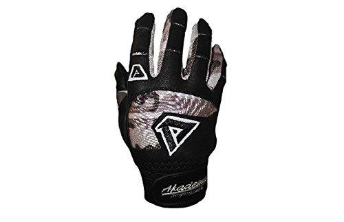 Akademaプロフェッショナルバッティング手袋 B00Y59OSG4 Large|ブラック/カモ ブラック/カモ Large
