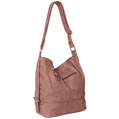 CASPAR Bag Messenger Old A4 Shoulder Small Womens Format Rose for Bag TS732 4tpxF4