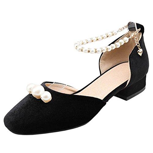 D'Orsay Femmes Plates TAOFFEN Sandales Black Fqf5RTZnx