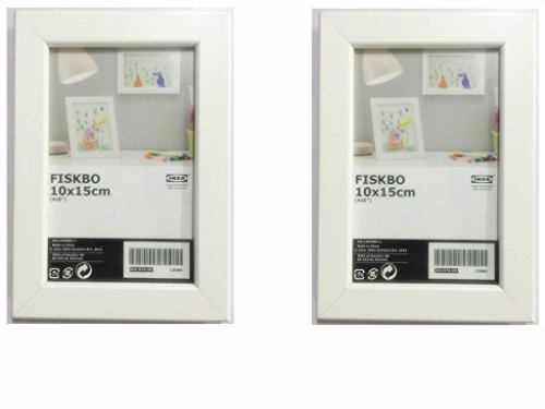 "IKEA FISKBO Frame 4x6"" A variety of colors to choose from (Set of 2 Frames) (White)"