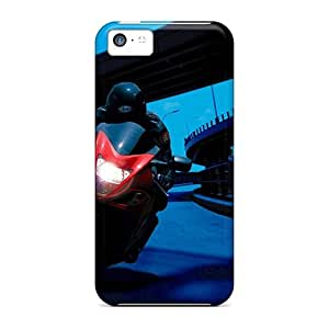 5c Scratch-proof Protection Case Cover For Iphone/ Hot Night Bike Ride Phone Case