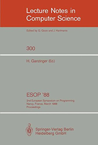 ESOP 88 2nd European Symposium on Programming. Nancy, France