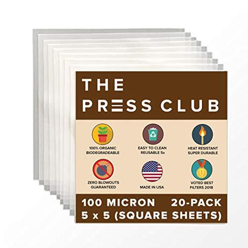 "100 Micron   Premium Nylon Rosin Tea Filter Screens   5"" x 5"" Inch   20 Pack   Zero Blowout Guarantee   All Micron & Sizes Available"