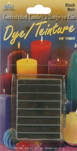 Yaley 110000D-72 Concentrated Candle Dye Blocks, 0.75-Ounce, Black