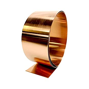 Image of Copper Flashing - 16 oz 24 Gauge 10' Rolls in Various Widths for Roofing, DIY, or Contractor use-Lead Free Copper - can be Used with Pressure Treated Lumber (12' Width)